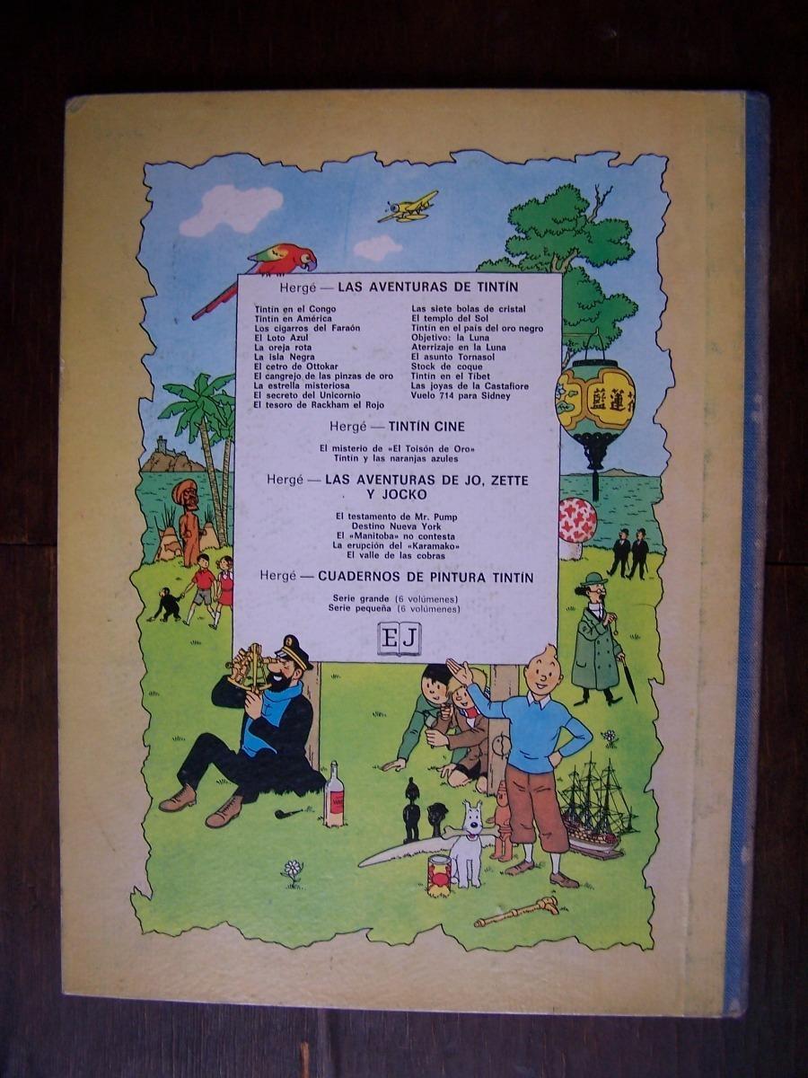 Tintin El Tesoro De Rackham El Rojo 4ta Edicion 1971 2 350 00