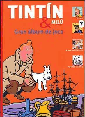 tintin & milu. gran album de jocs(libro )