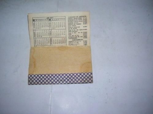 tintoreria suprema calendario 1967 almanaque jabon bolsillo