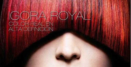 tinturas igora royal 3 pomos. envío gratis