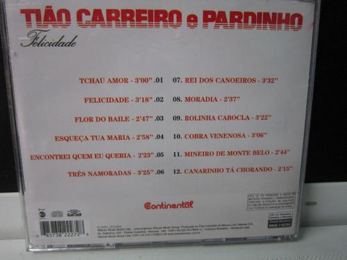tião carreiro & pardinho, cd felicidade, 1985