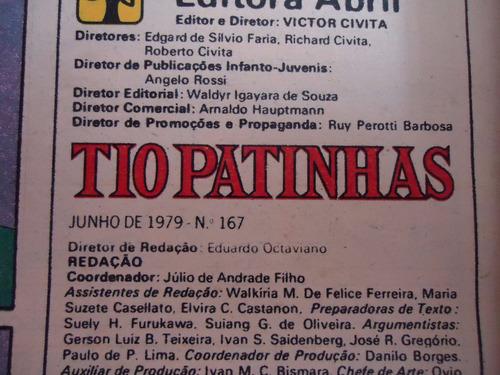 tio patinhas - nº 167 - ano 16 - junho 1979