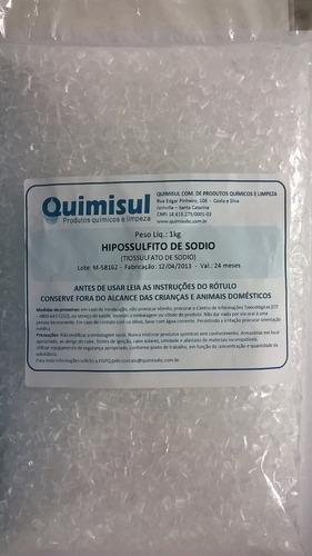 tiossulfato de sódio 1 kg  (hipossulfito de sódio)