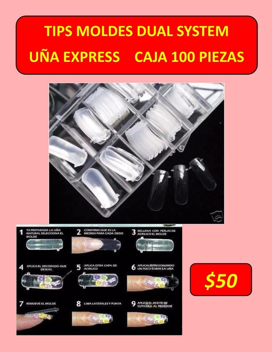 Tip Dua System Uña Express Caja 100 Moldes - $ 50.00 en Mercado Libre