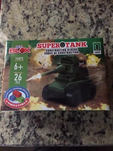 tipo lego ladrillos de construccion super tank tanque