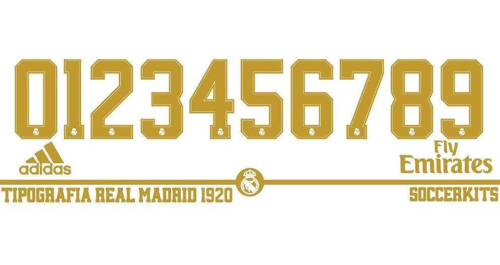 Tipografia Vector Real Madrid 2019-2020 Optimizada Para
