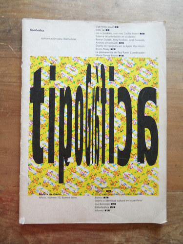 tipografica n° 10 -1990 - director. fontana