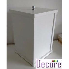 5b7a828f6 Lixeira Mdf Branca Sob Medida Cozinha Banheiro Escritório