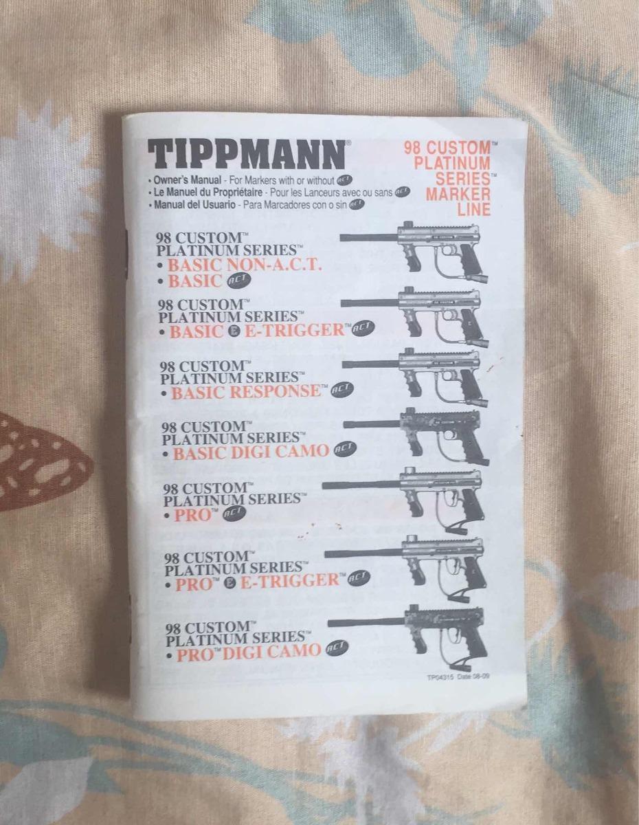 Tippmann 98 Platinum Series Com Rt Equipamento De Paintball R Custom Pro Act Gun Diagram Carregando Zoom
