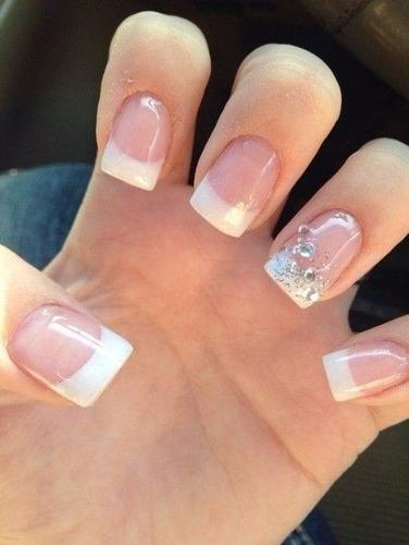 tips uña corta 100pz para uñas acrilicos gelish decoraciones