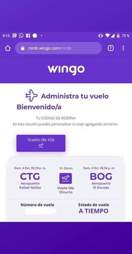 tiquetes aereos (bogota-cartagena, cartagena-bogota)
