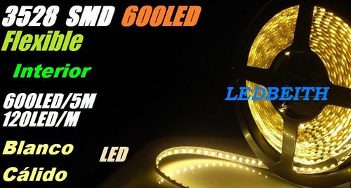tira 600 led 3528 monocolor exterior varios colores @lb