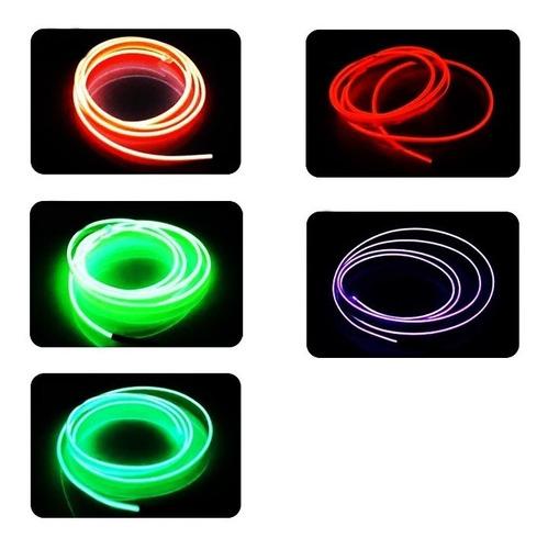 tira cinta led neon flash flexible fluor 1 mts a pila