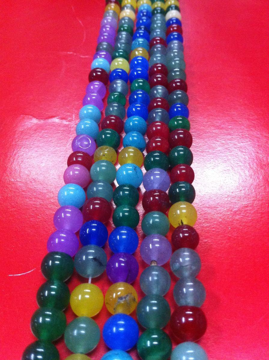 tira de 50 piedras de jade de colores 8 mm bisuteria