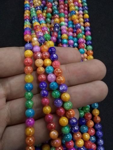 tira de 58 piedras nacar colores 6 mm bisuteria
