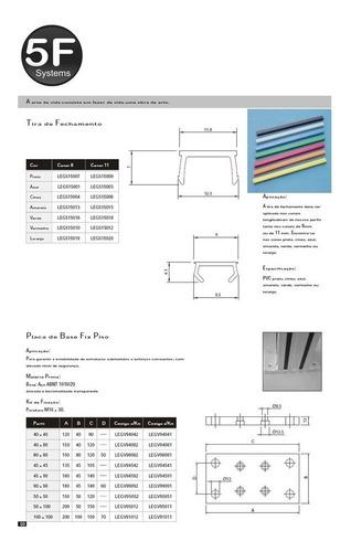 tira de fechamento para perfil de aluminio