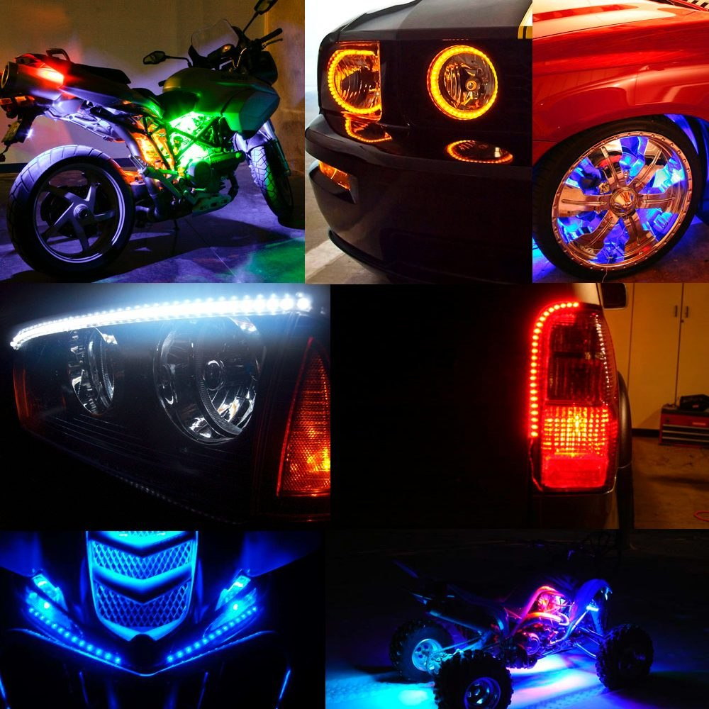 Tira de led flexible vehiculo tunnig ampolleta - Tira de led exterior ...