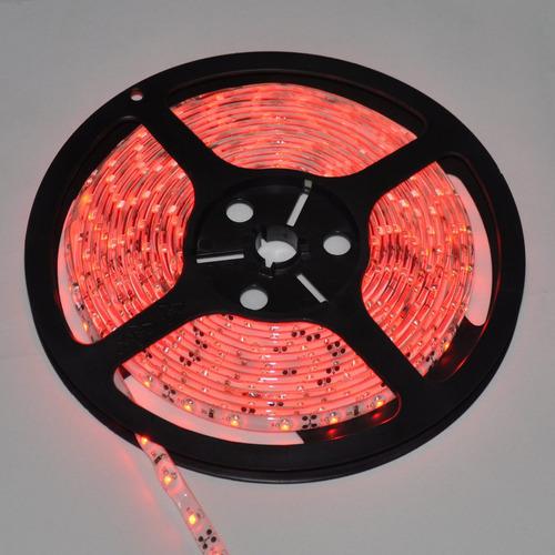 tira de led rojo flexible 12v rollo 5m 300 led p interiores