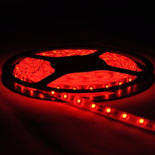tira de led rojo flexible 12v rollo 5m 300 led waterproof