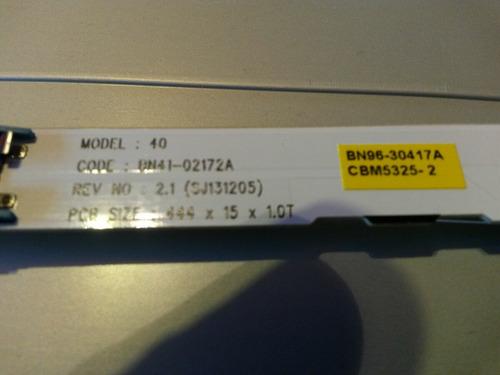 tira de led samsung ue40h5500 3led usada