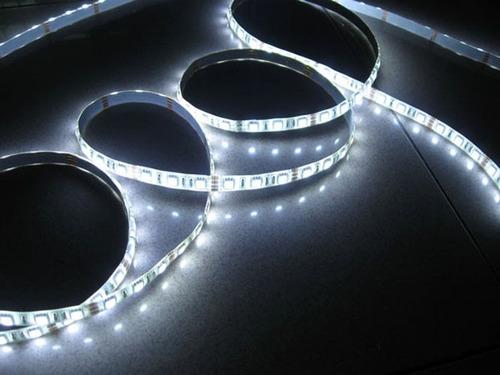 tira de led smd 5050 p. exterior 300 leds 5 mts color blanco