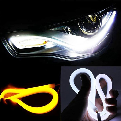 tira de led xenon flexible drl con sistema de luz de giro