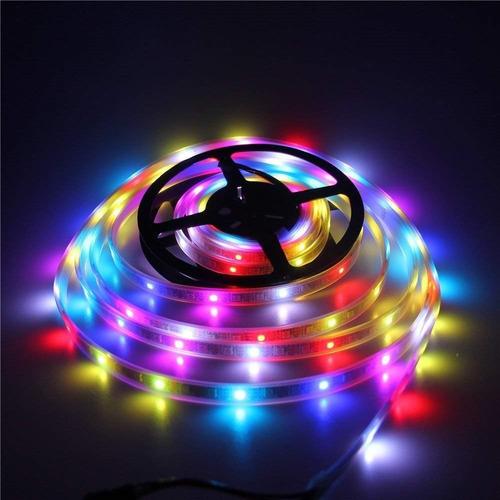 tira de luces 300 led rgb 5 metros flexible impermeable