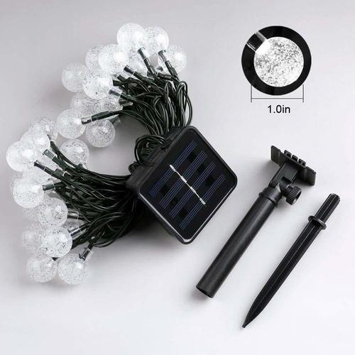 tira de luces led glückluz solares navideñas, 20 pies