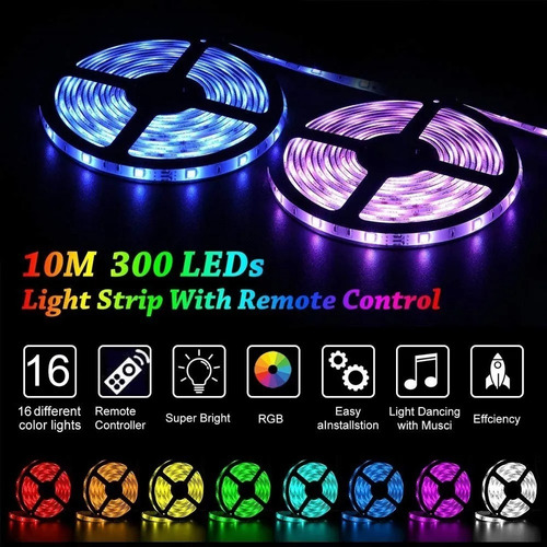 tira de luces led rgb 5050 10 metros,originales