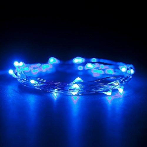 tira de luces rtgs micro led azul, a batería, 7 ft