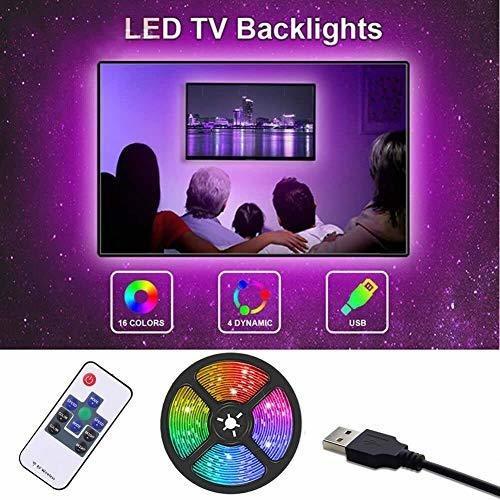 tira de luz led, luz de fondo de tv gskeys luces de tira led