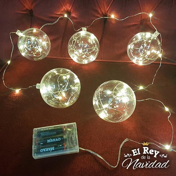cdf5386a67f Tira De Luz Mini Led Bolas Arbol Navidad Alambre Moldeable -   480 ...