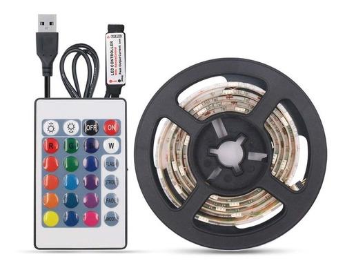 tira de luz rgb dc5v 10w 2m 120 leds con control remoto usb