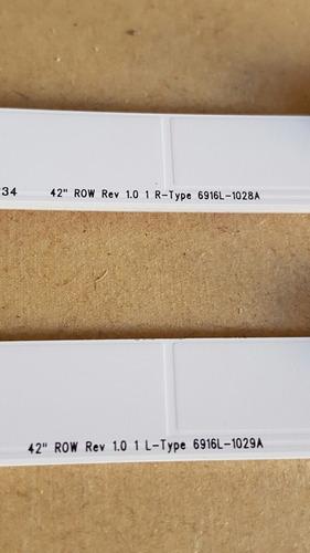 tira larga led 6led lg 42lm3400 lc420dun (se) (u3) 45cm 3v