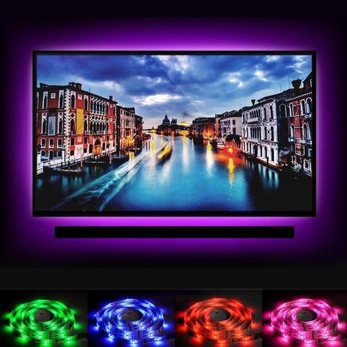 tira led 2m rgb con control, para tv, monitor, pc, pantalla