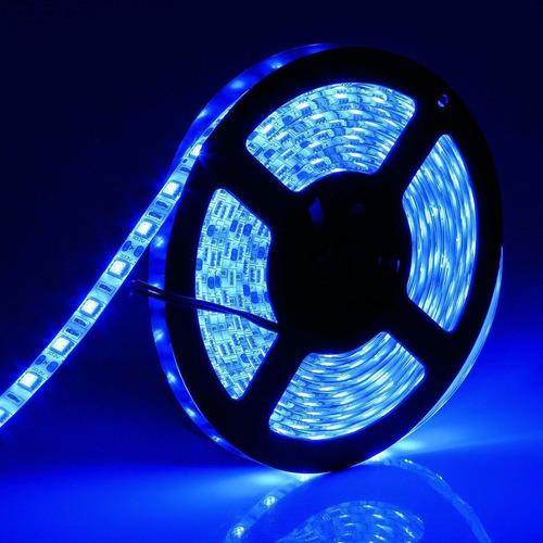 tira led 5050 interior azul 5 metros alta potencia
