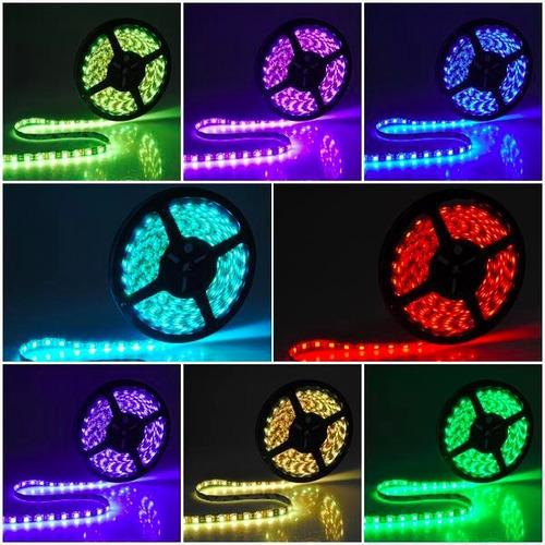 tira led 5050 rgb interior alta potencia multicolor colores