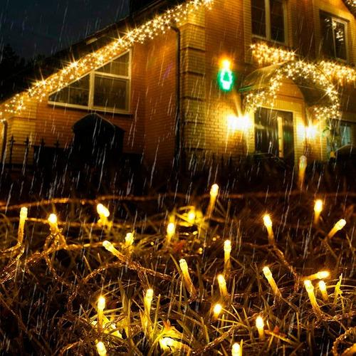 tira led 70 luces guirnalda blanco cálido 9 metros a pilas