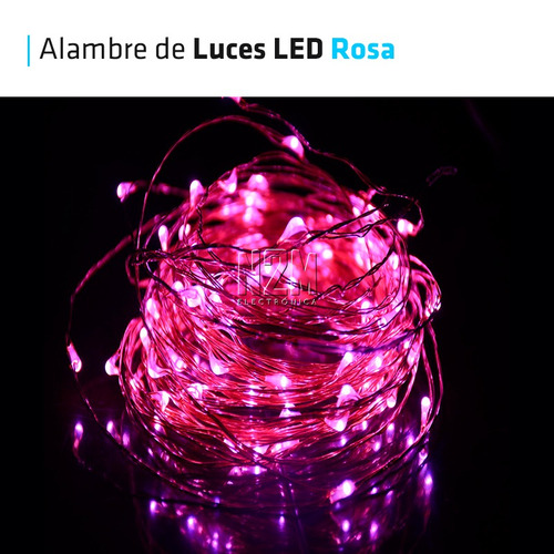 tira led cable hilo alambre luces led a pila 3 metros n2m