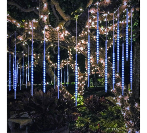 tira led cascada lluvia meteoro multicolor  50cm decoracion
