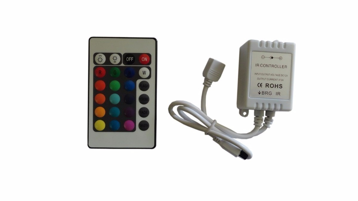 Tira led con control colores 5050 rgb 300 leds interior for Tiras led de colores