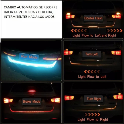 tira led  de cajuela secuencial auto stop direccional drl