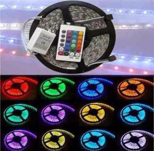 Tira led de colores control remoto tubo led bar discomovil for Tiras led de colores