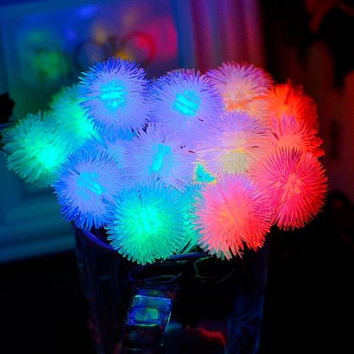 tira led guirnalda diente léon luces x 28 color rgb 5 metros