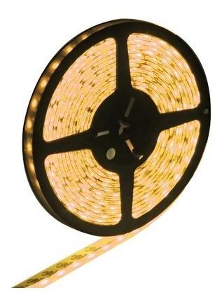 tira led luz impermeable epoxy amarillo 5050 cuerda 60 5m