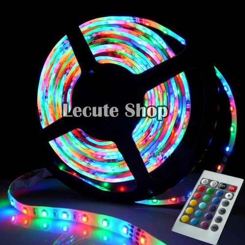 tira led multicolor rgb rollo 5 metros luces decoracion