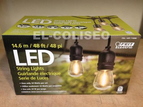 tira led navidad 24 focos luces serie vintage exterior 14.6m