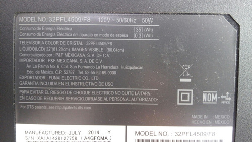 tira led philips mod 32pfl4509/f8