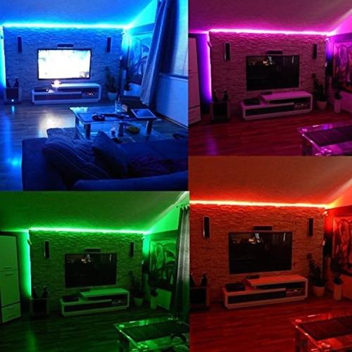 tira led rbg exterior 5050 luces colores fuente + control