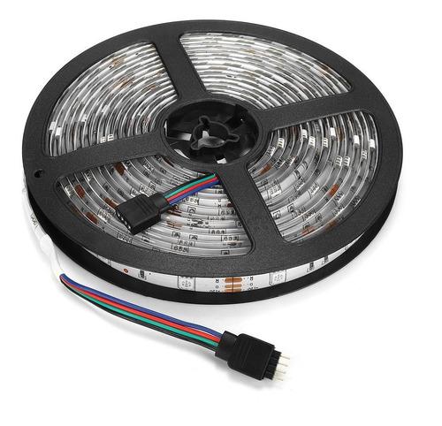 tira led rgb 5050 kit 5 metros 16 colores con control remoto